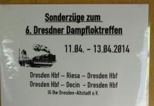 Clubausflug zum 6.Dresdner Dampfloktreffen vom 10.-13.04.2014